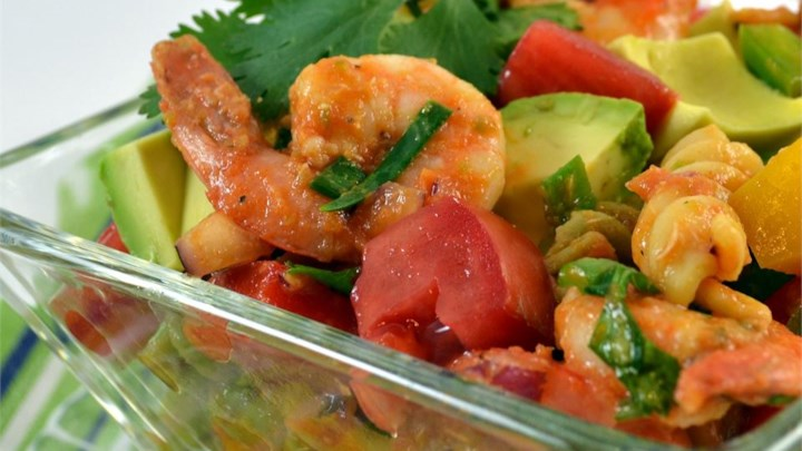 Confetti Shrimp Cocktail Pasta Salad