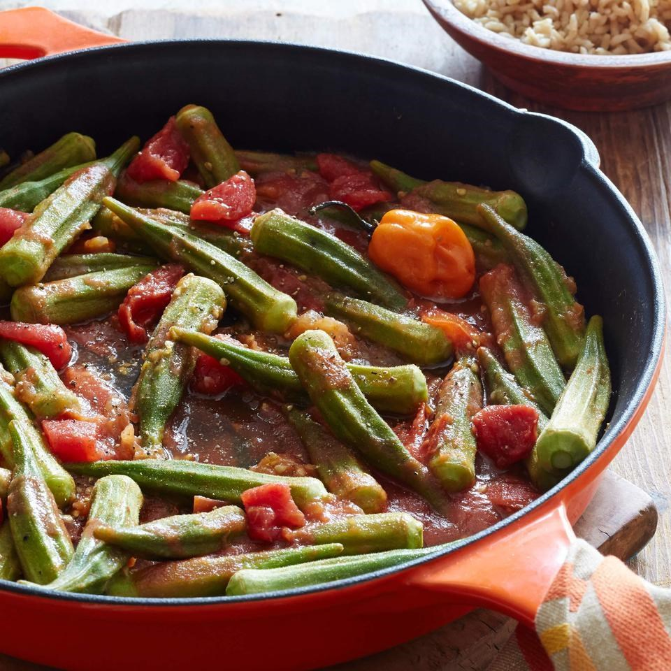 Spicy Stewed Okra & Tomatoes