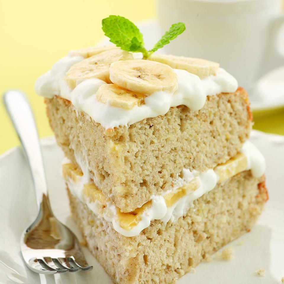 Banana Cream Layer Cake Recipe