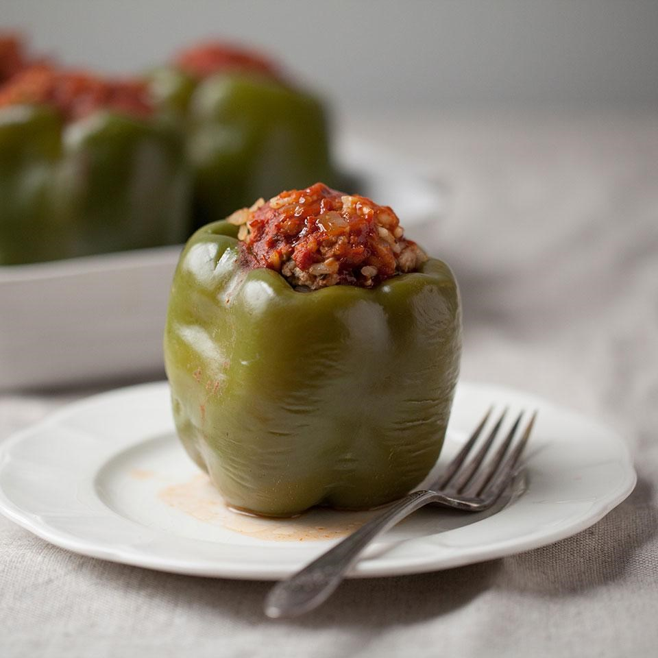Stuffed peppers recipe eatingwell stuffed peppers forumfinder Images