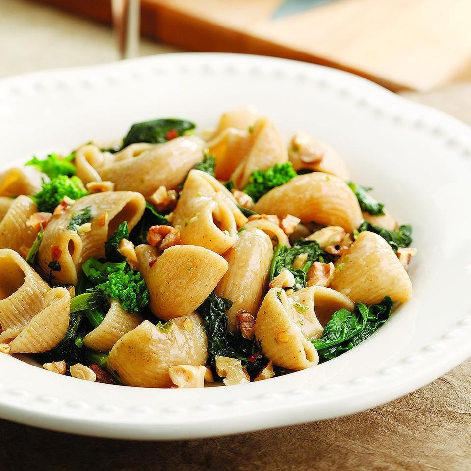 Braised Broccoli Rabe with Orecchiette Recipe - EatingWell
