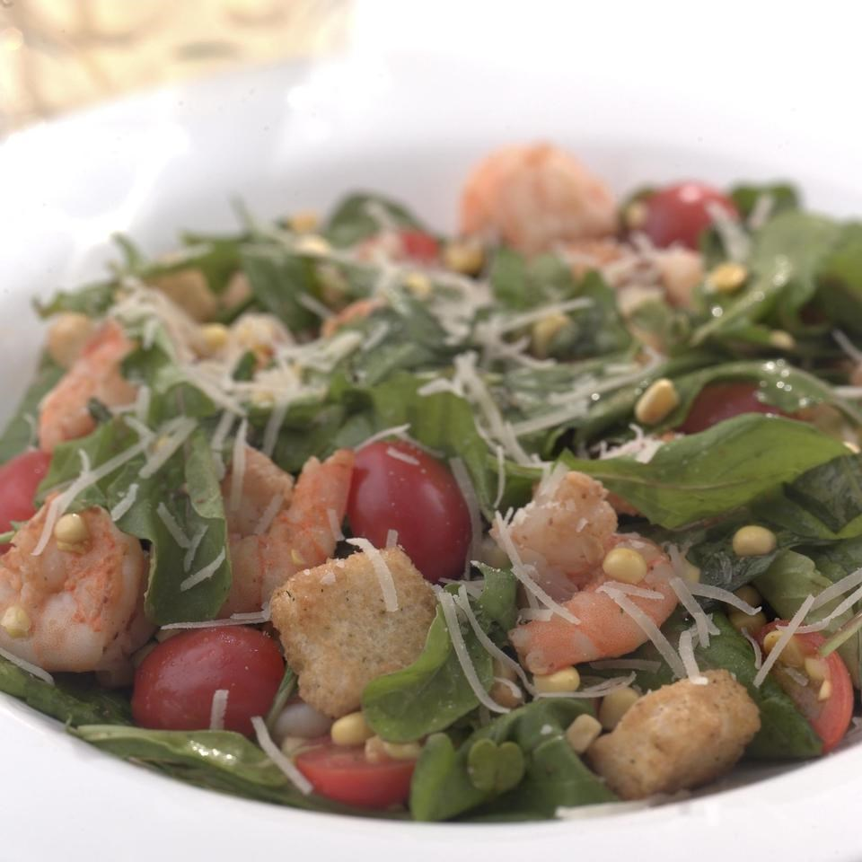 Warm Shrimp & Arugula Salad