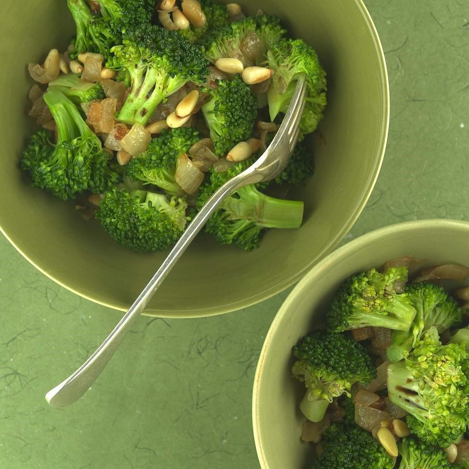 Broccoli with Caramelized Onions & Pine Nuts Recipe - EatingWell