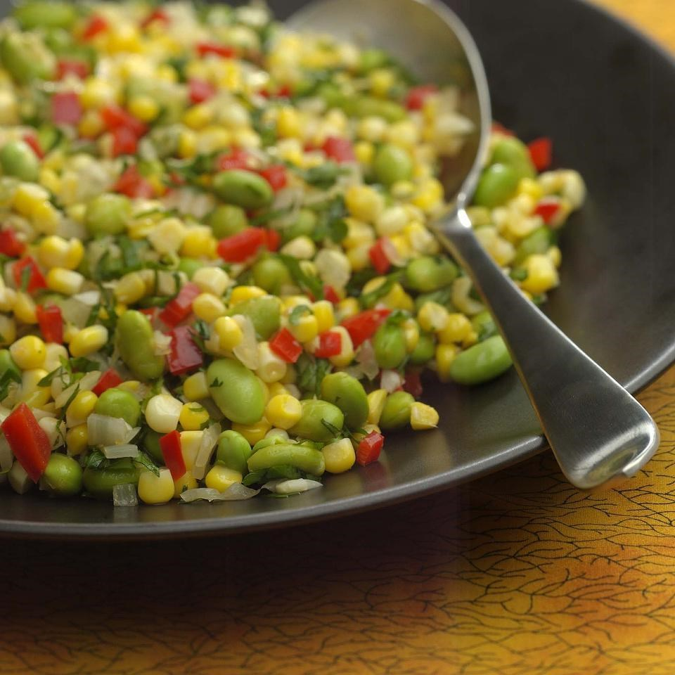 Herbed corn edamame succotash recipe eatingwell for Best green vegetable recipes