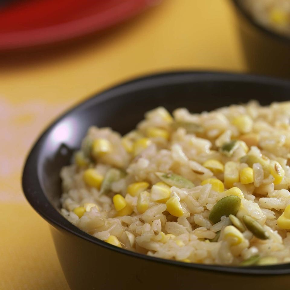 Spiced Corn & Rice Pilaf