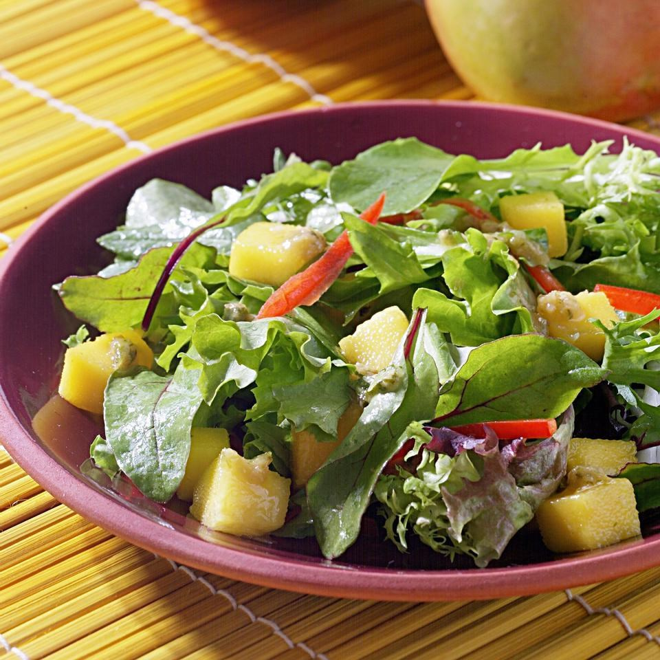 Mango Salad With Ginger Raisin Vinaigrette
