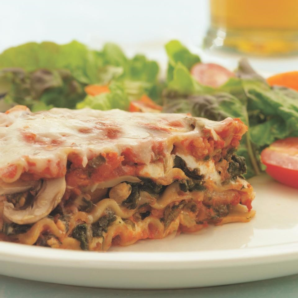 Sausage, Mushroom & Spinach Lasagna Recipe - EatingWell.com