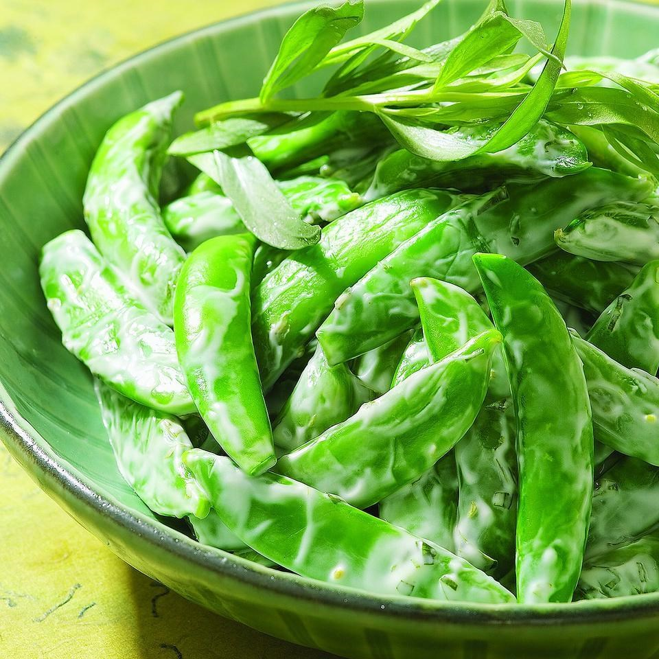 Chilled Snap Peas with Creamy Tarragon Dressing