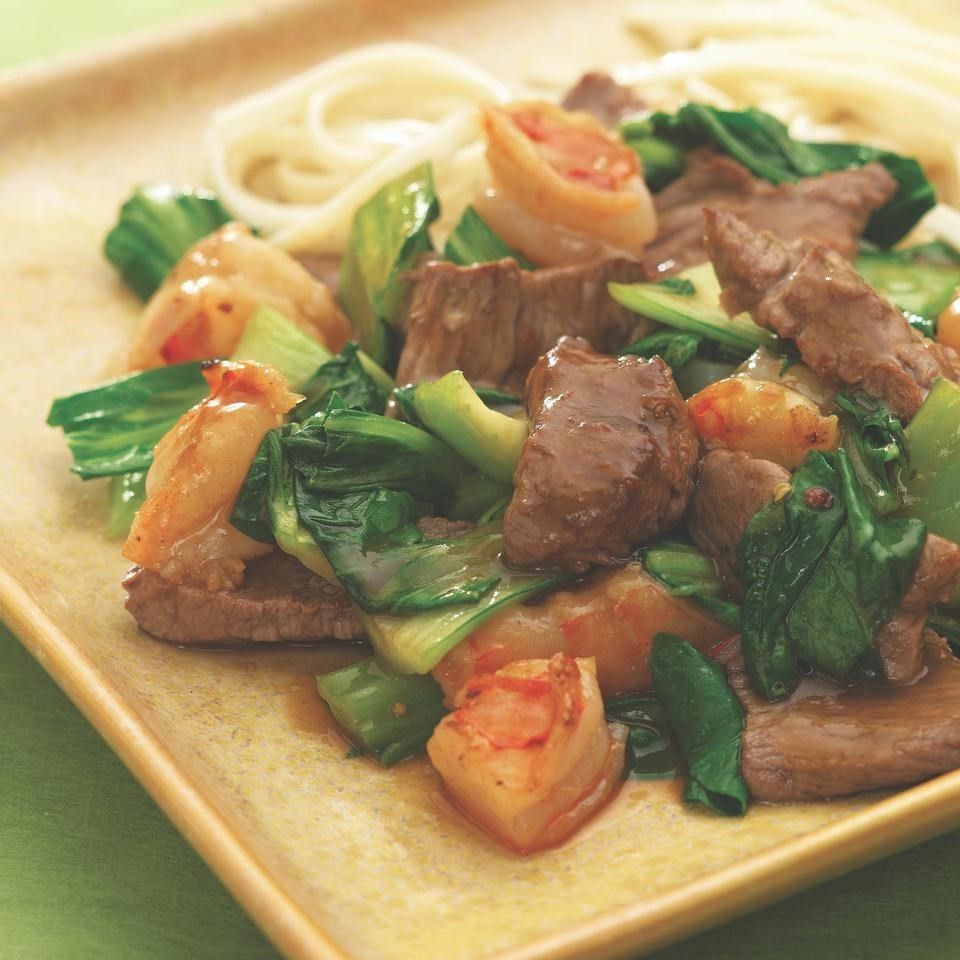 Spicy Beef With Shrimp Bok Choy Recipe Eatingwell
