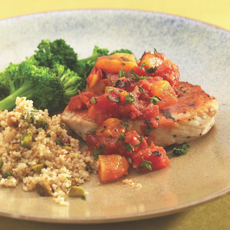 Pork Chops with Apricot-Tomato Chutney Recipe - EatingWell.com
