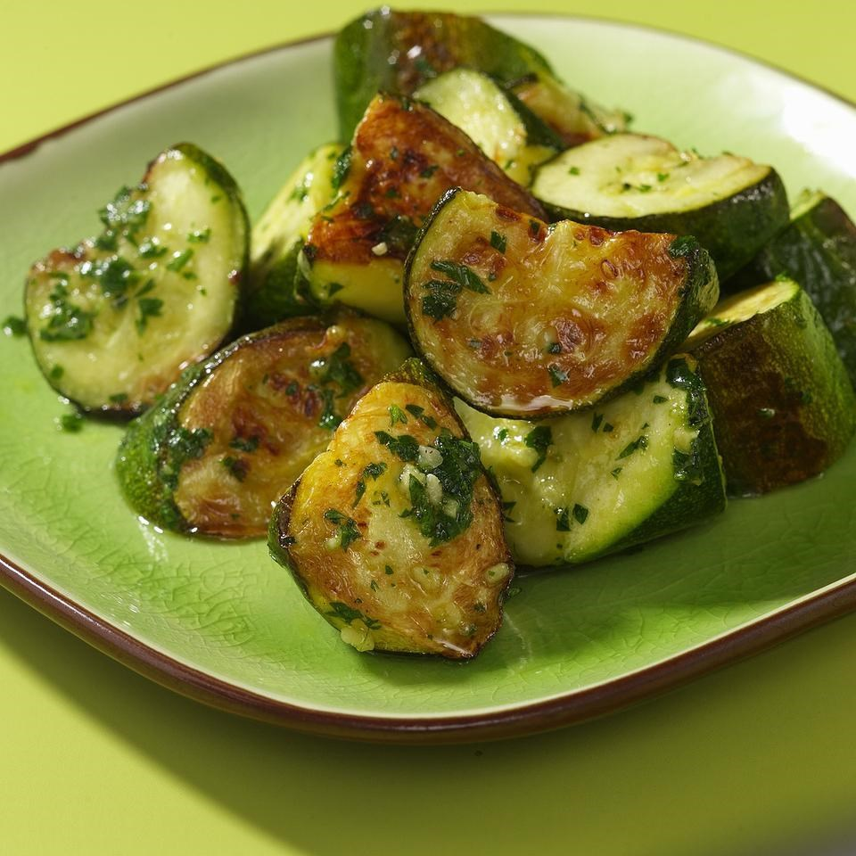 Roasted Zucchini & Pesto