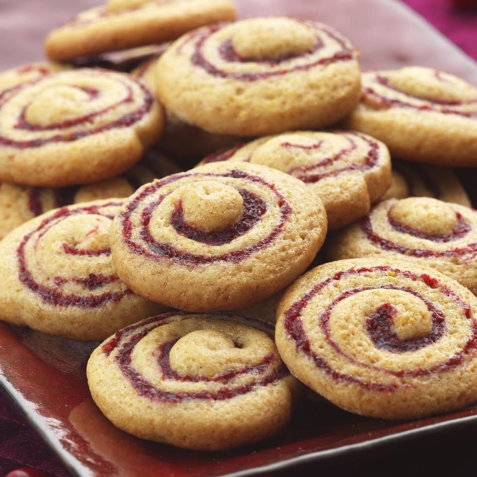 Cranberry Honey Spice Pinwheel Cookies Recipe Eatingwell