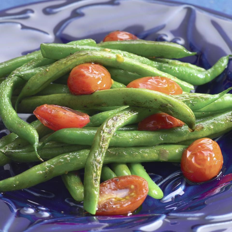 Sauteed Green Beans & Cherry Tomatoes