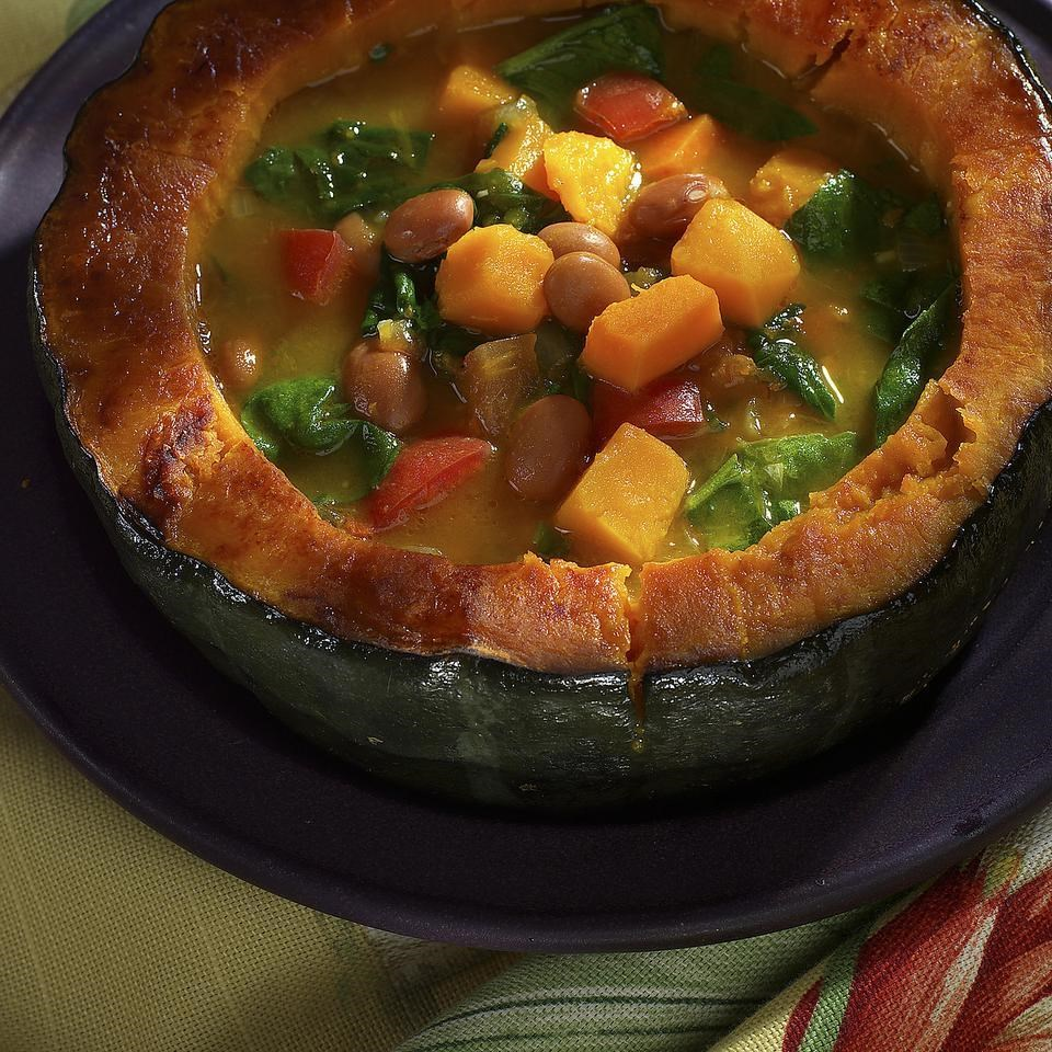 Amazon Bean Soup With Winter Squash and Greens