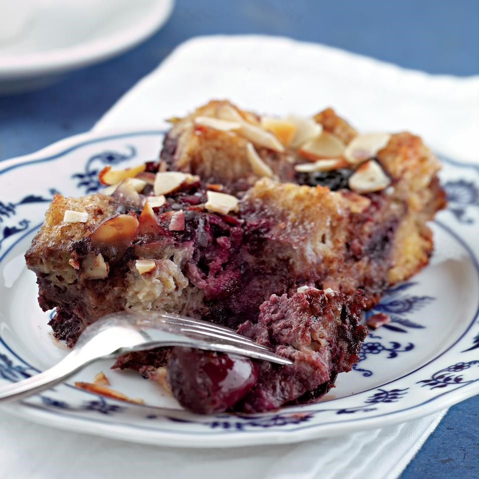 Chocolate, Cherry & Almond Bread Pudding