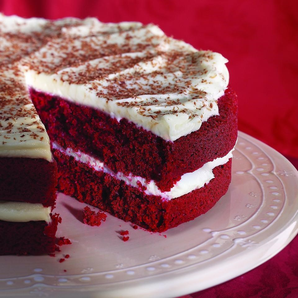 Red Velvet Cake with Cream Cheese Frosting Recipe - EatingWell.com