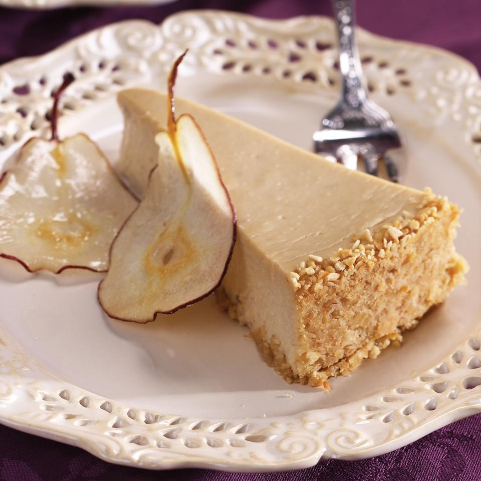 Pear & Ginger Cheesecake