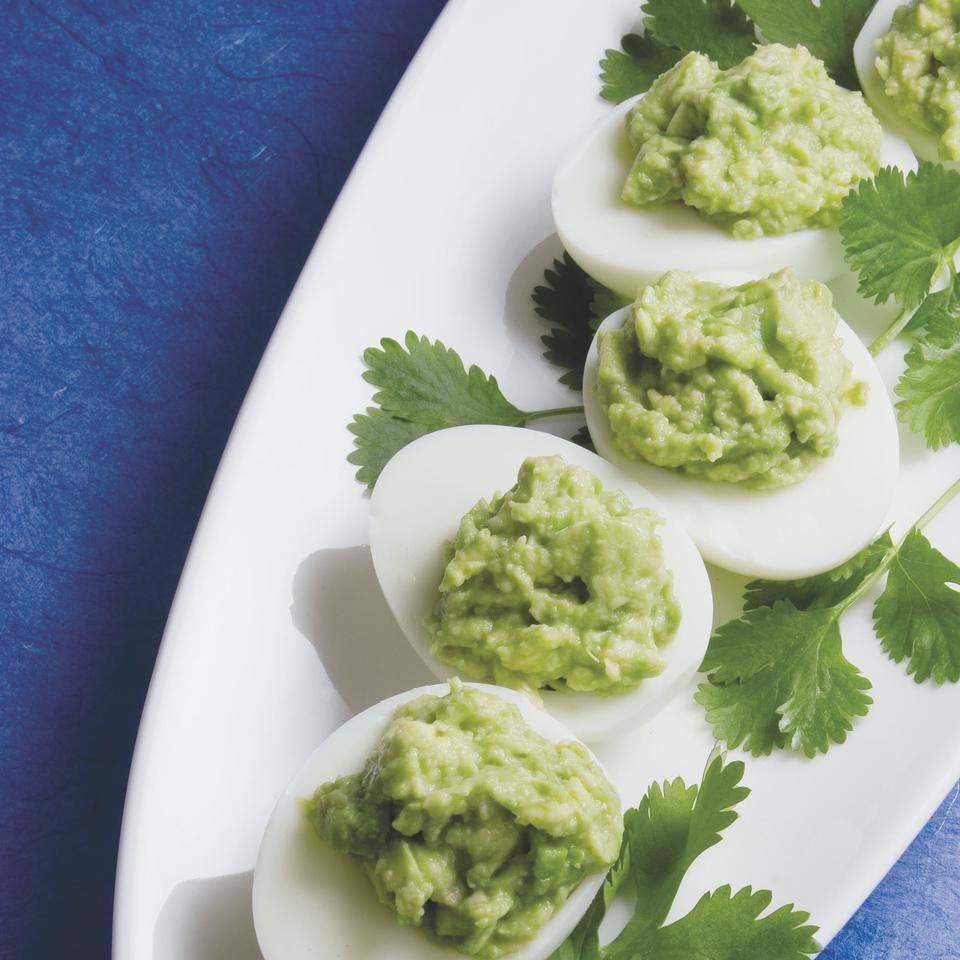 Guacamole-Stuffed Eggs
