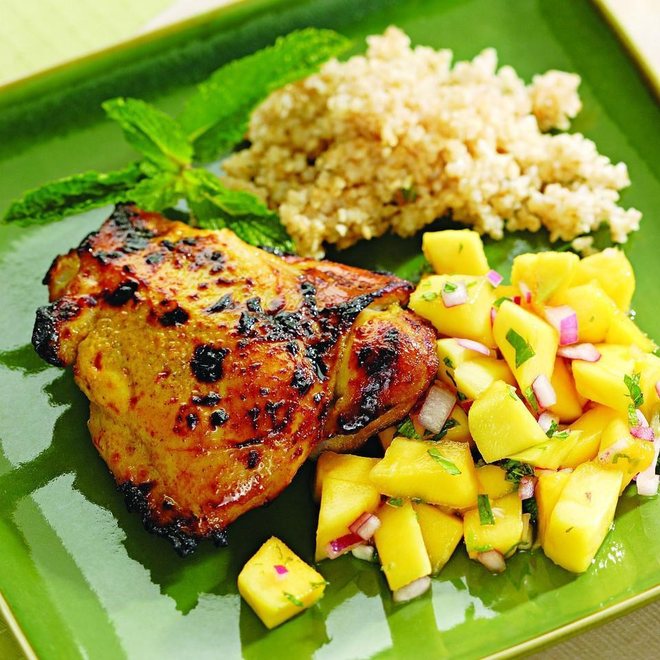 Curried Chicken With Mango Salad 9