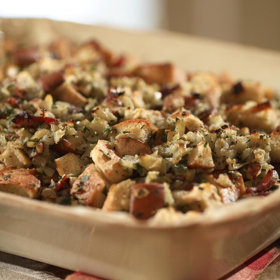 Pear, Prosciutto & Hazelnut Stuffing Recipe
