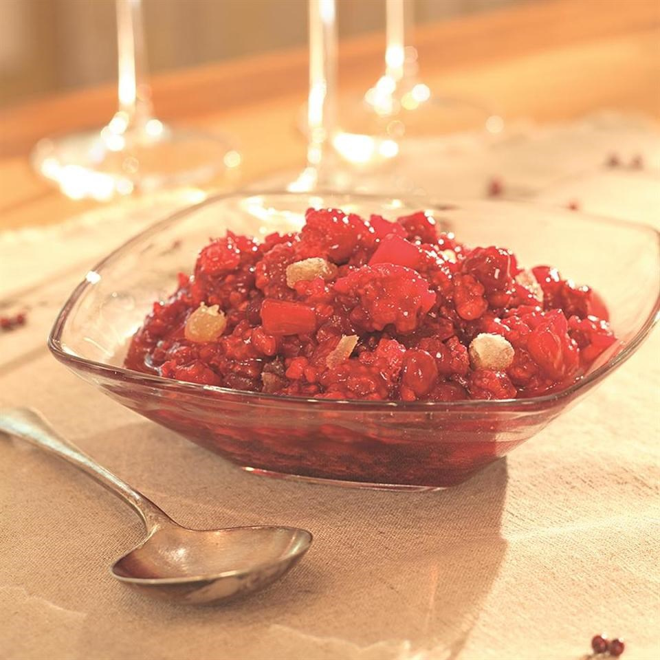 Gingered Cranberry-Raspberry Relish