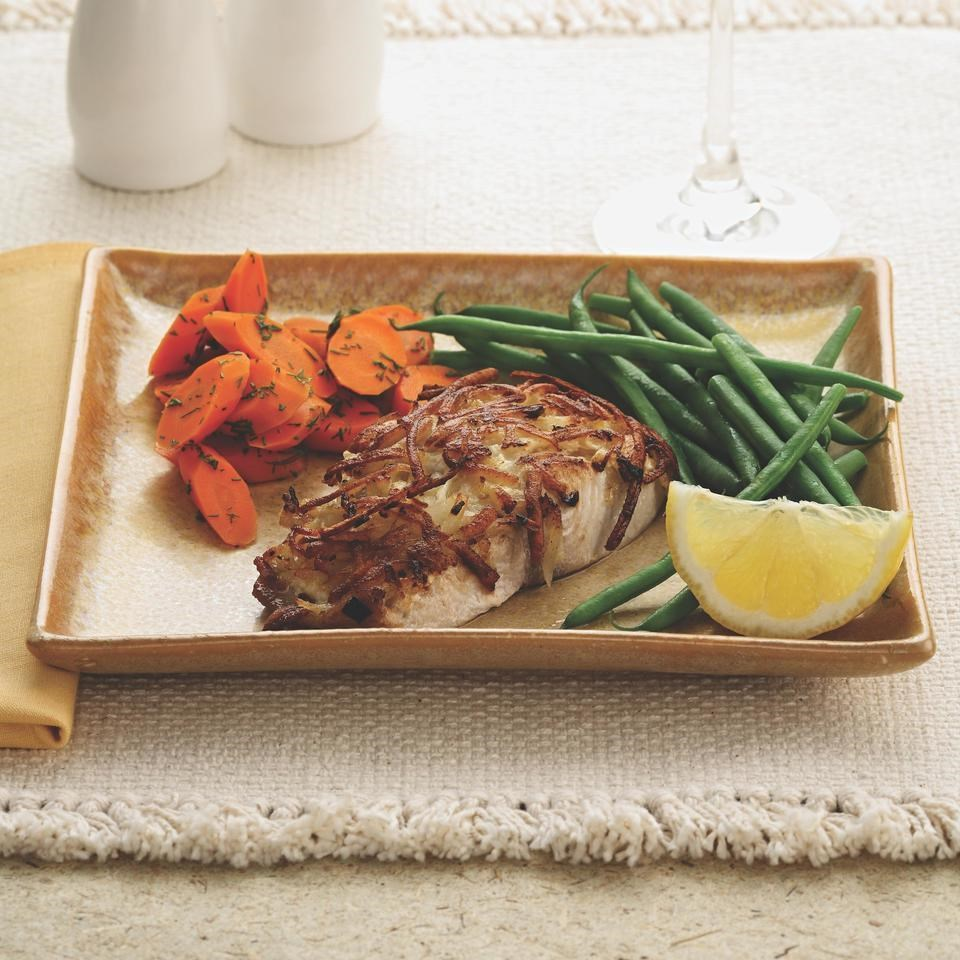 Potato-Horseradish-Crusted Mahi-Mahi