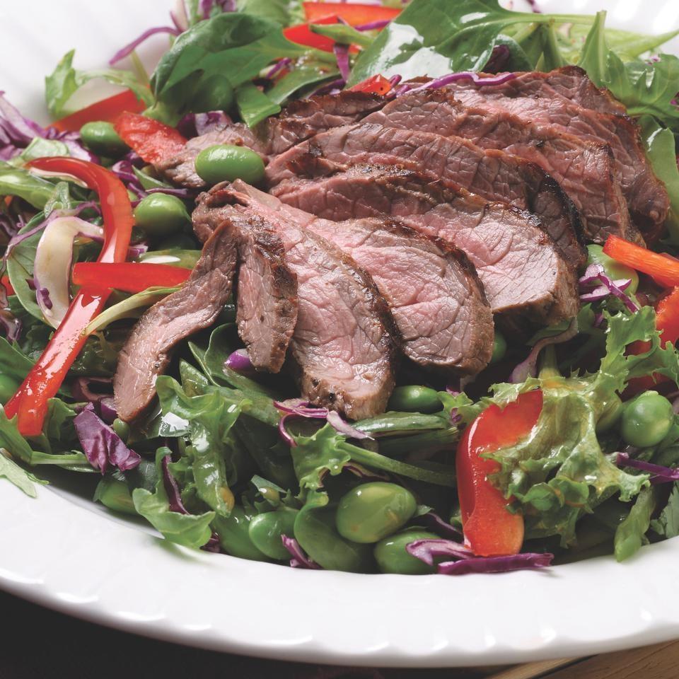 Seared Steak Salad with Edamame & Cilantro