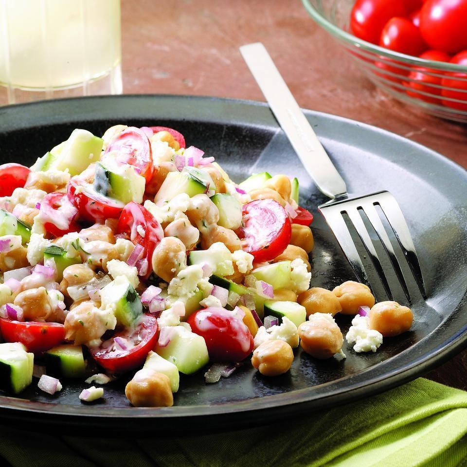 Chickpea Salad Recipe - EatingWell.com