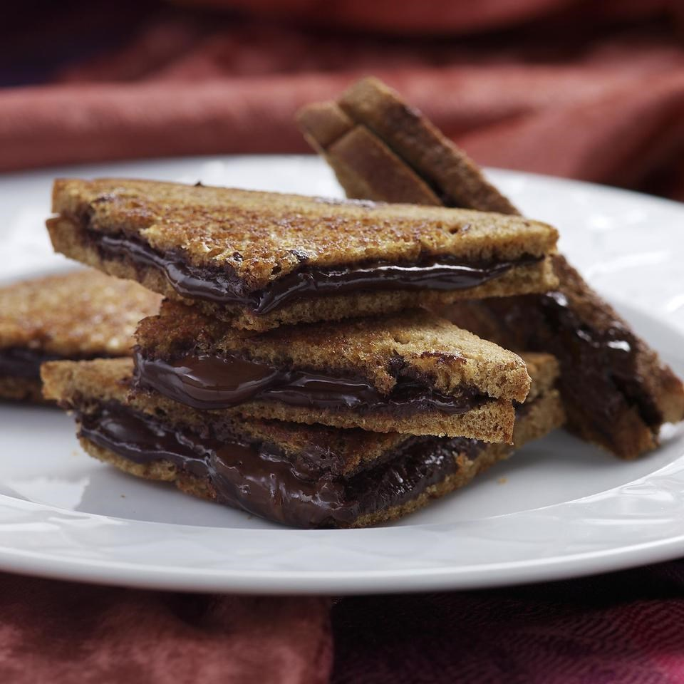 Grilled Dark Chocolate Sandwich Recipe - EatingWell