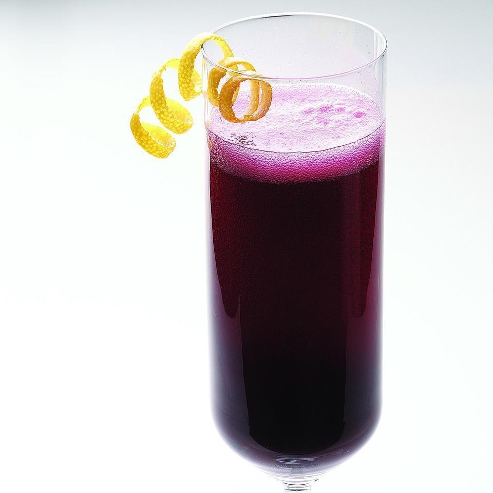 Blueberry Ginger Bellini