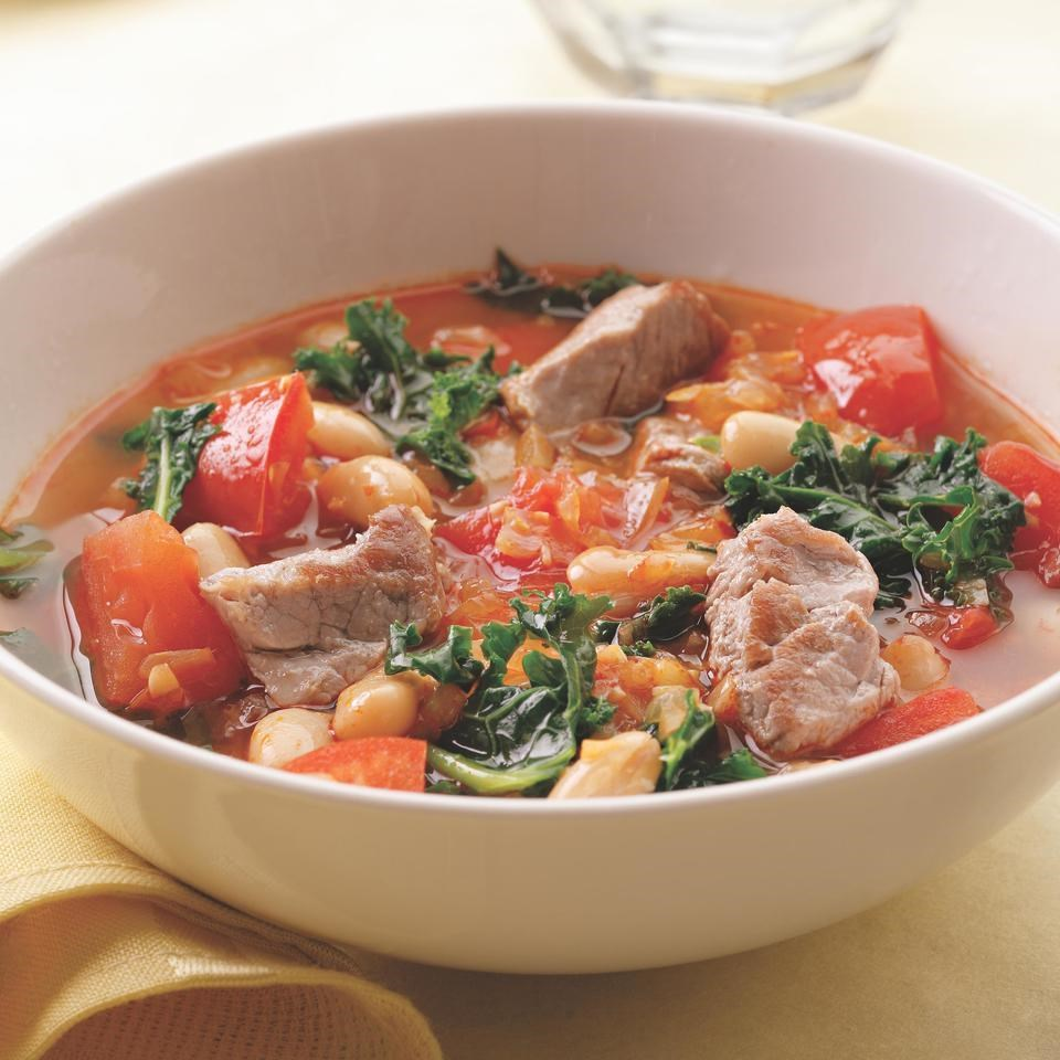 Pork, White Bean, and Kale Soup