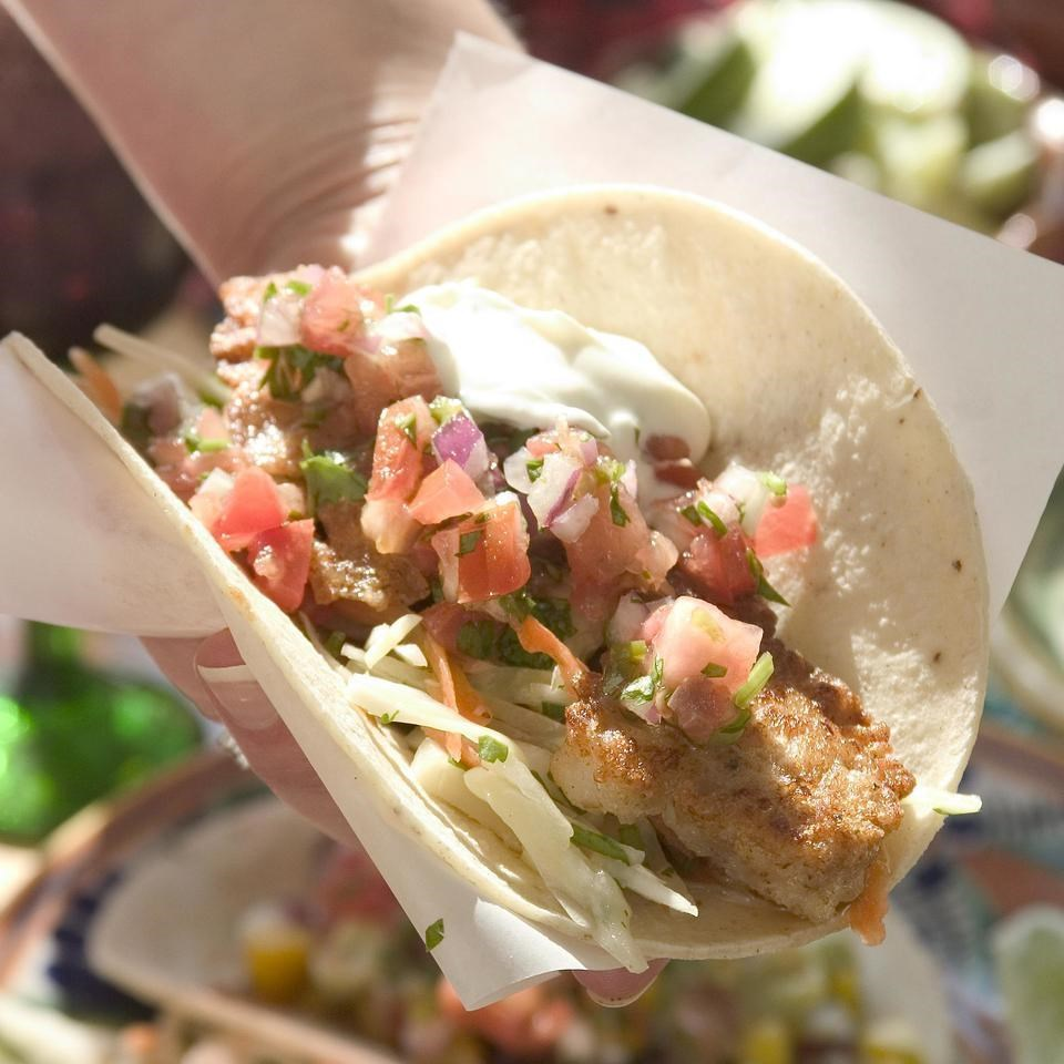 Beer-Battered Fish Tacos with Tomato & Avocado Salsa