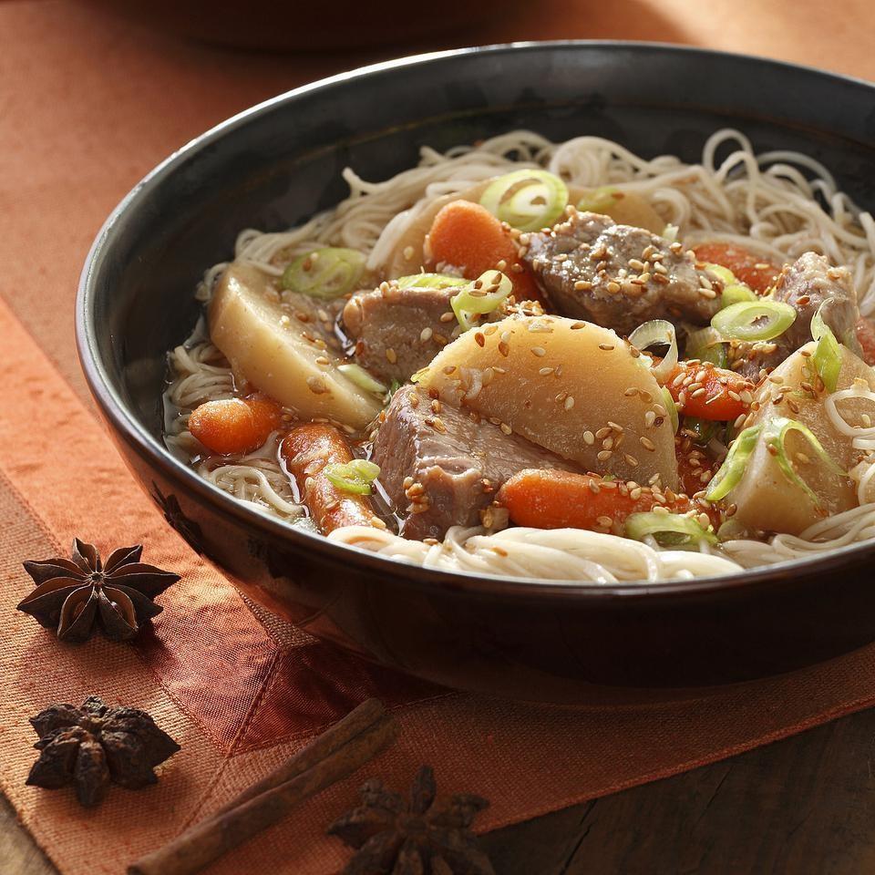 Chinese Pork & Vegetable Hot Pot