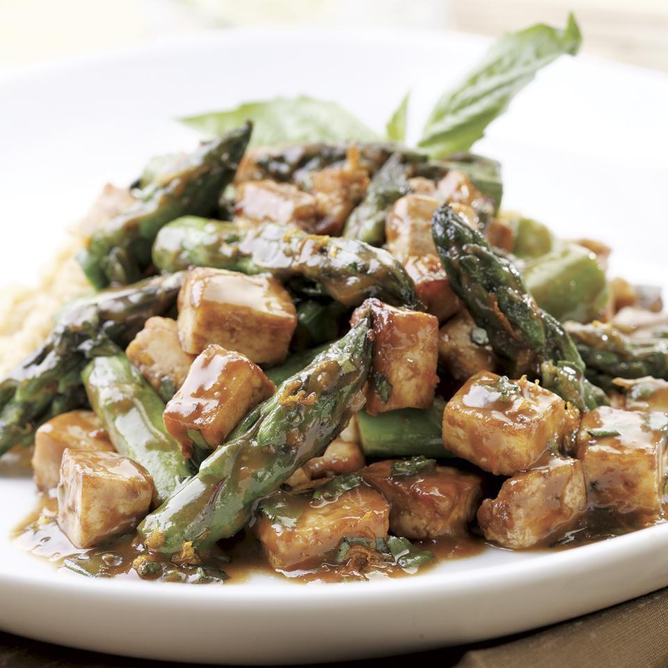 Savory Orange-Roasted Tofu & Asparagus