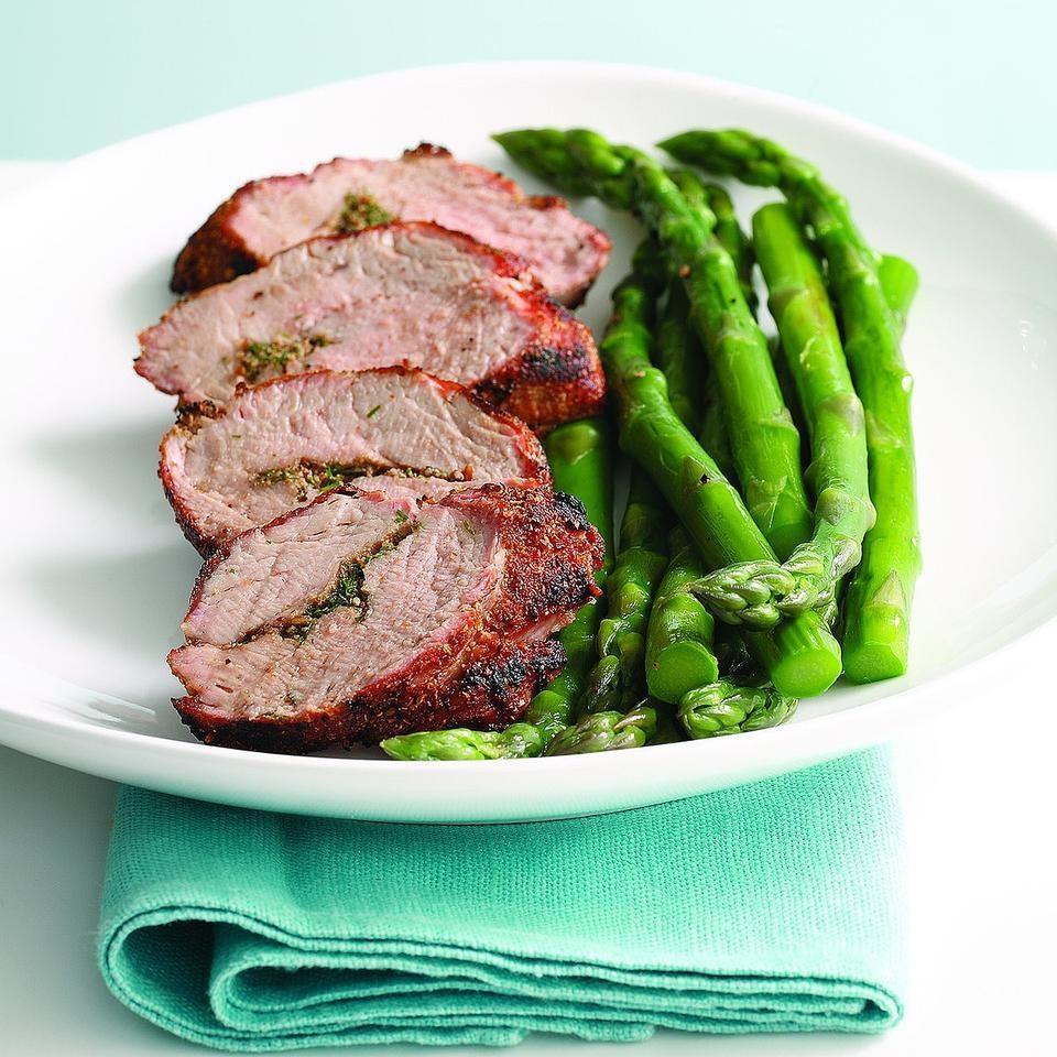 Grilled Pork Tenderloin with Aquavit Seasonings (Snapse Krydret Svine Morbrad)