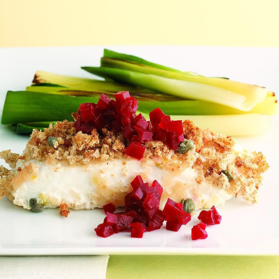 Roasted Halibut with Pickled Beets (Stegte Helleflynder med Rodbeder)