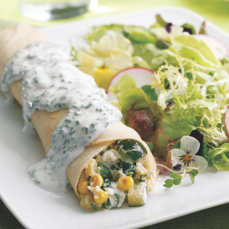 Summer Vegetable Crepes Recipe Eatingwell