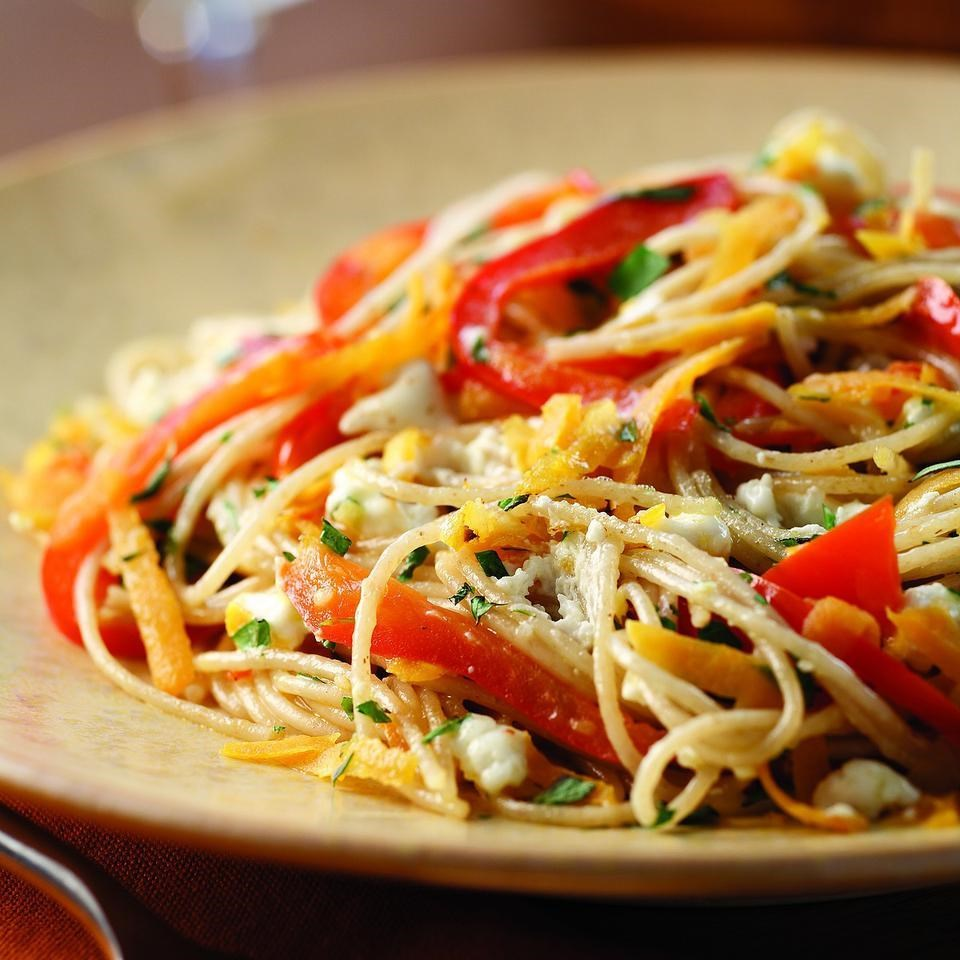 Sweet Potato & Red Pepper Pasta