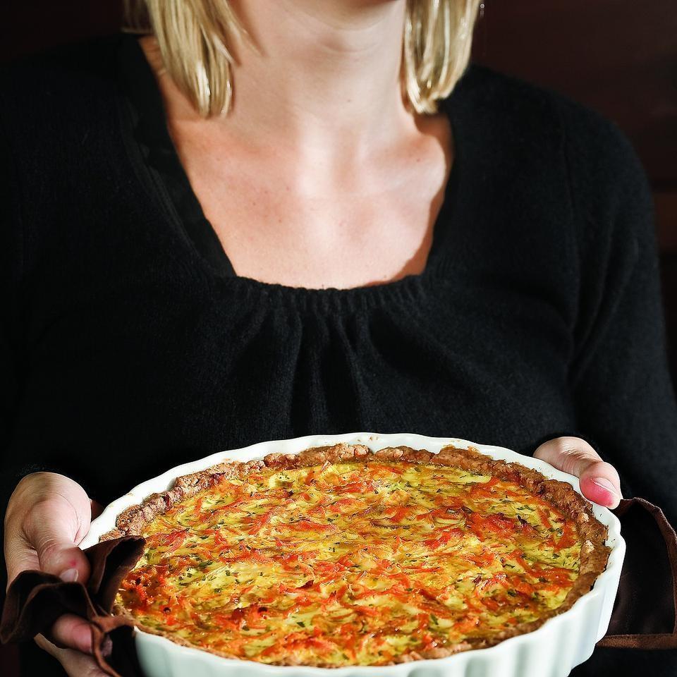 Savory Carrot & Tarragon Tart