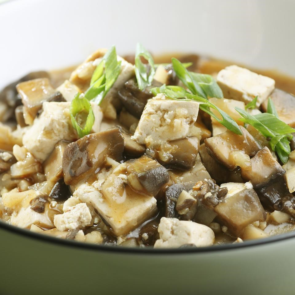 Chinese braised mushrooms tofu recipe eatingwell chinese braised mushrooms tofu forumfinder Image collections