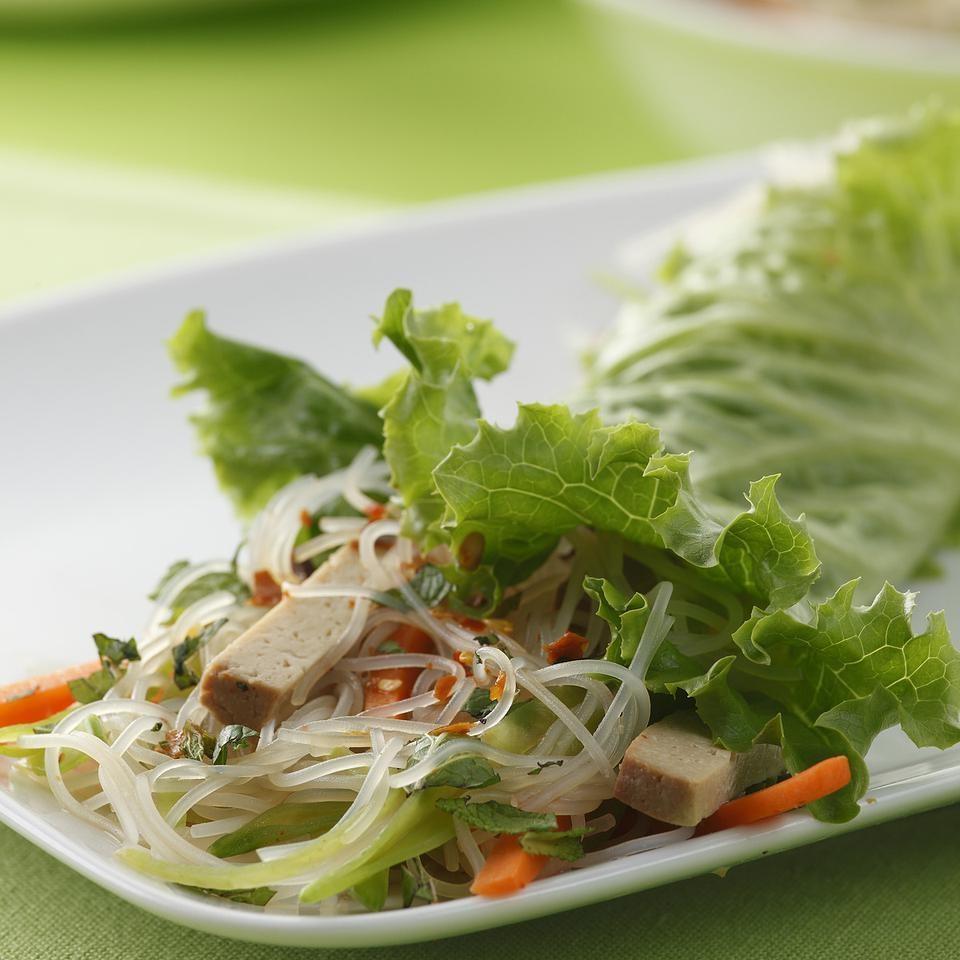 Vietnamese Tofu-Noodle Lettuce Wraps Recipe