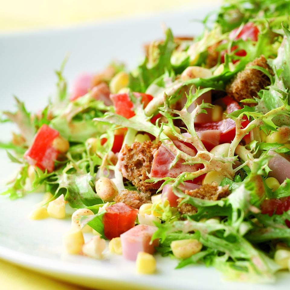 Crunchy Green Salad with Croutons Recipe forecasting