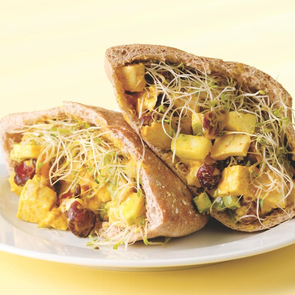 Curried Chicken Pitas Recipe - EatingWell