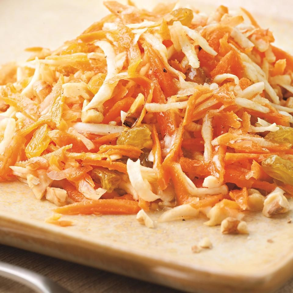 Carrot Salad with Honey-Lemon Dressing Recipe - EatingWell