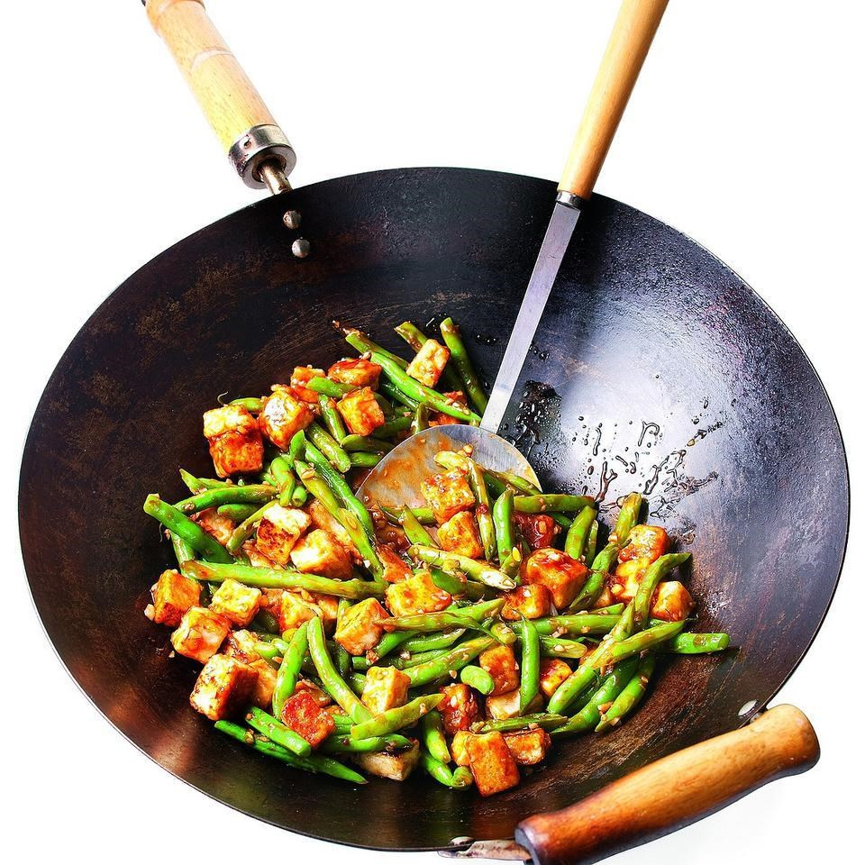 Szechuan tofu green bean stir fry recipe eatingwell szechuan tofu green bean stir fry forumfinder Image collections