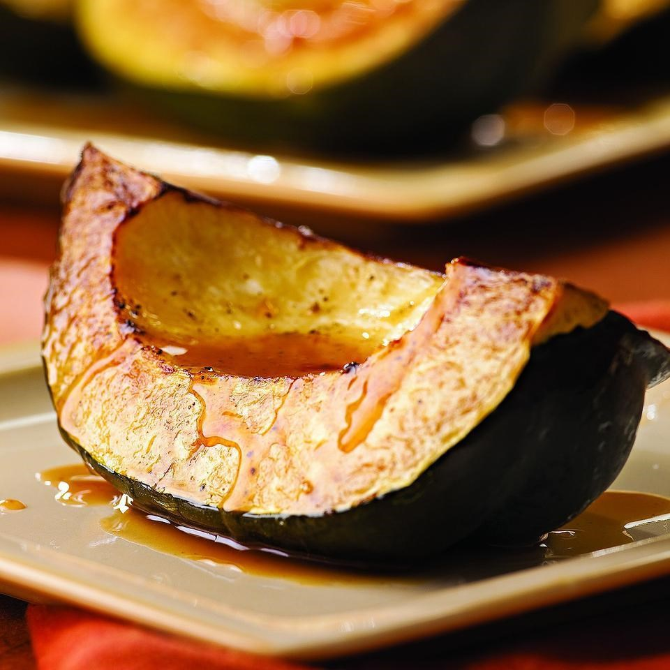 Roasted Acorn Squash with Cider Drizzle