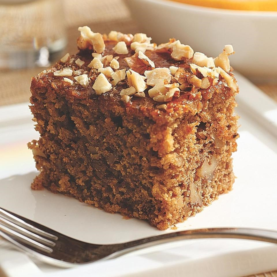 Butter On Date And Walnut Cake