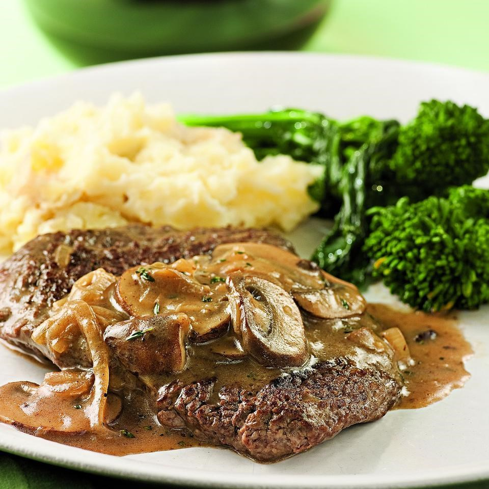Cube Steak With Mushroom Sherry Sauce