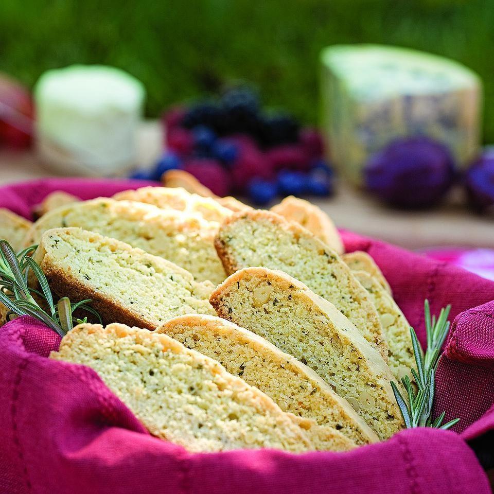 Rosemary-Pine Nut Biscotti