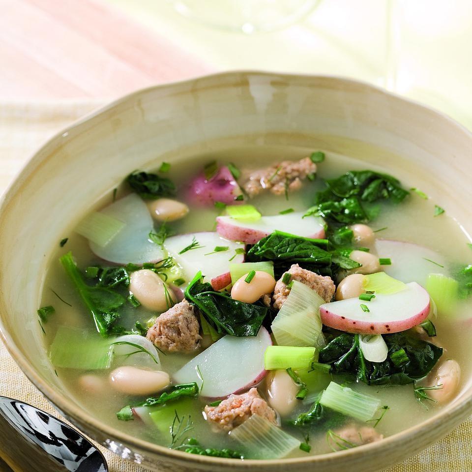 Leek, Potato & Spinach Stew